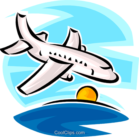 airplane Royalty Free Vector Clip Art illustration vc065340
