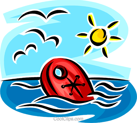 life vest Royalty Free Vector Clip Art illustration vc065355