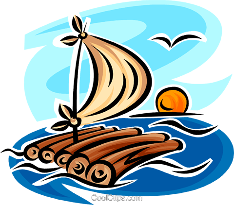raft Royalty Free Vector Clip Art illustration -vc065359 ...