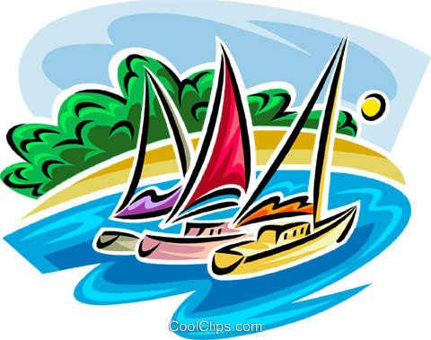 sailboats Royalty Free Vector Clip Art illustration vc065371