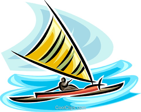 sailboat Royalty Free Vector Clip Art illustration vc065383