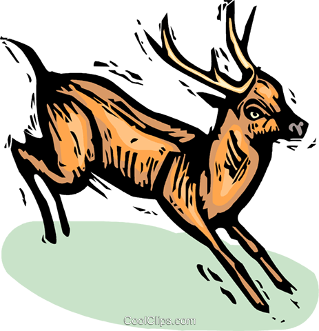deer Royalty Free Vector Clip Art illustration vc065386