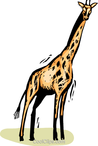 giraffe Royalty Free Vector Clip Art illustration vc065388