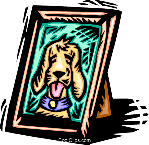 picture of a dog Royalty Free Vector Clip Art illustration vc065405