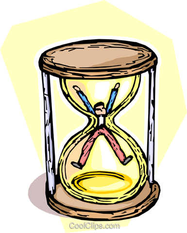 hourglass Royalty Free Vector Clip Art illustration vc065425