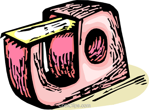 tape dispenser Royalty Free Vector Clip Art illustration vc065426