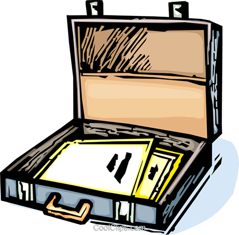 briefcase Royalty Free Vector Clip Art illustration vc065427