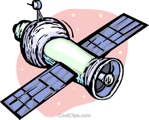 satellite Royalty Free Vector Clip Art illustration vc065432