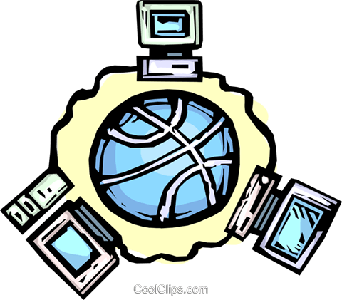 global networking Royalty Free Vector Clip Art illustration vc065434