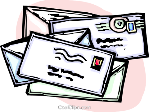 letters/envelopes Royalty Free Vector Clip Art illustration vc065436
