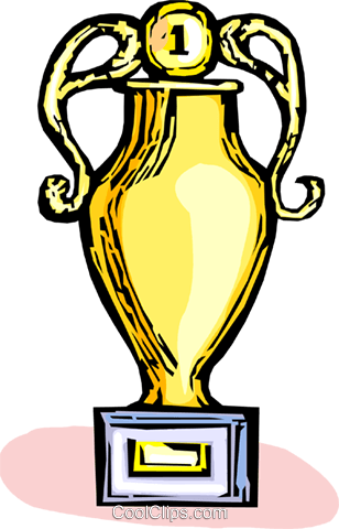 trophy Royalty Free Vector Clip Art illustration vc065443