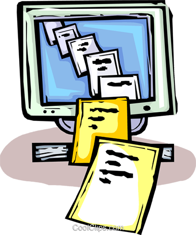 computer documents Royalty Free Vector Clip Art illustration vc065451