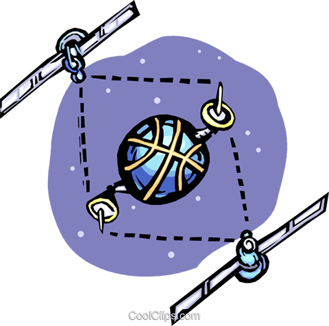 satellite communications Royalty Free Vector Clip Art illustration vc065452