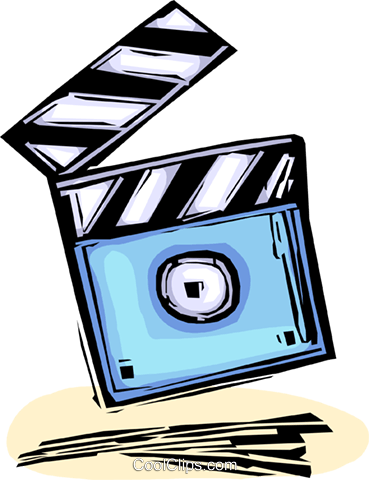 clapper board Royalty Free Vector Clip Art illustration vc065456