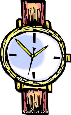 wristwatch Royalty Free Vector Clip Art illustration vc065458