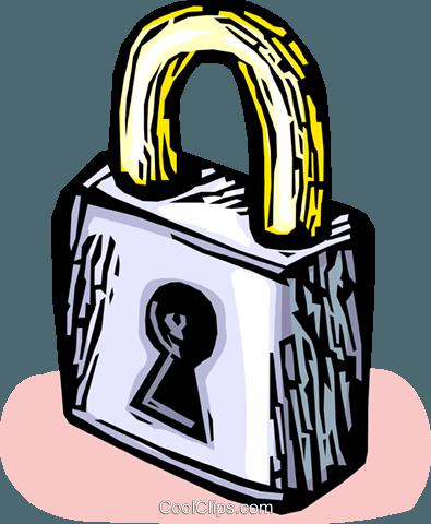 锁 免版税矢量剪贴画插图