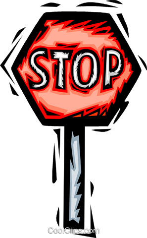 stop sign Royalty Free Vector Clip Art illustration vc065486