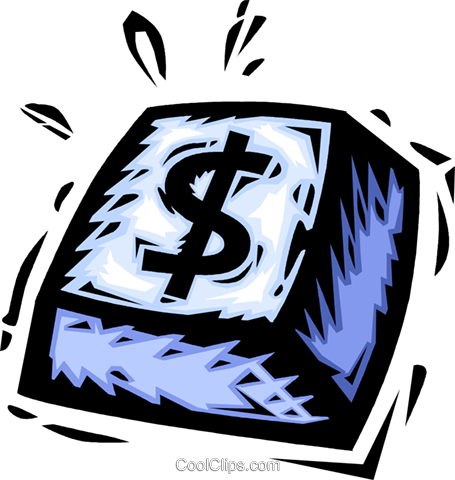 dollar sign keyboard button Royalty Free Vector Clip Art illustration vc065487