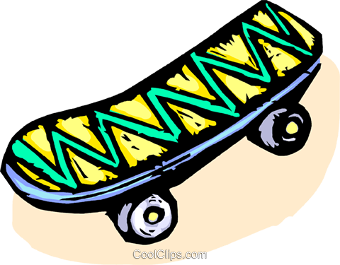 skateboard Royalty Free Vector Clip Art illustration vc065542