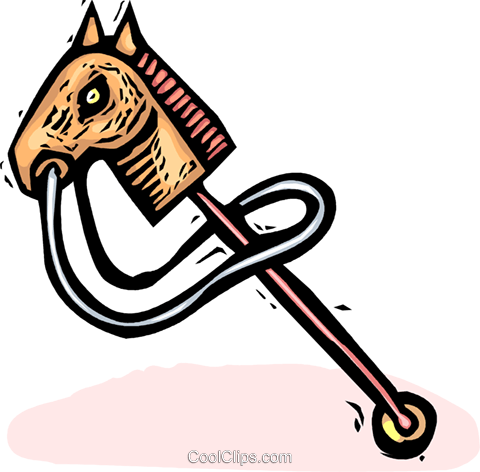 hobby horse Royalty Free Vector Clip Art illustration vc065544