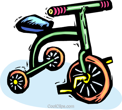 tricycle Royalty Free Vector Clip Art illustration vc065545