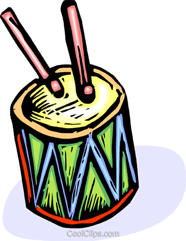 drums Royalty Free Vector Clip Art illustration vc065557