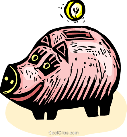 piggy bank Royalty Free Vector Clip Art illustration vc065571