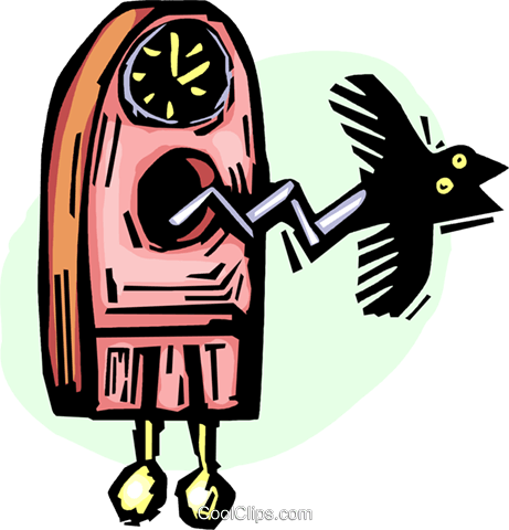 cuckoo clock Royalty Free Vector Clip Art illustration vc065573