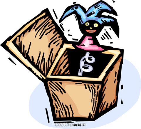 jack-in-the-box Royalty Free Vector Clip Art illustration vc065576