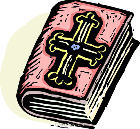 The Bible Royalty Free Vector Clip Art illustration vc065604