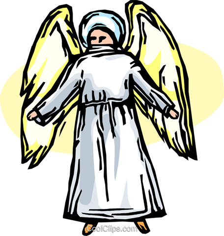 angels Royalty Free Vector Clip Art illustration vc065614