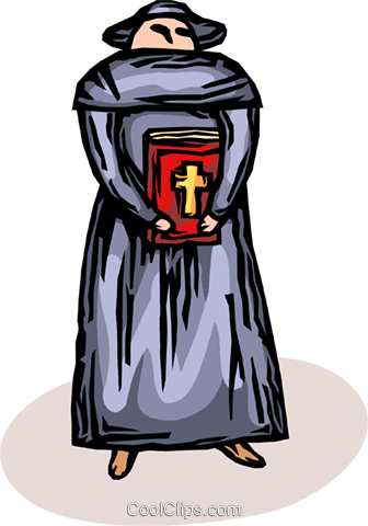 priest Royalty Free Vector Clip Art illustration vc065616