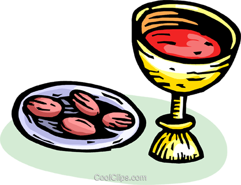Communion Royalty Free Vector Clip Art illustration vc065631