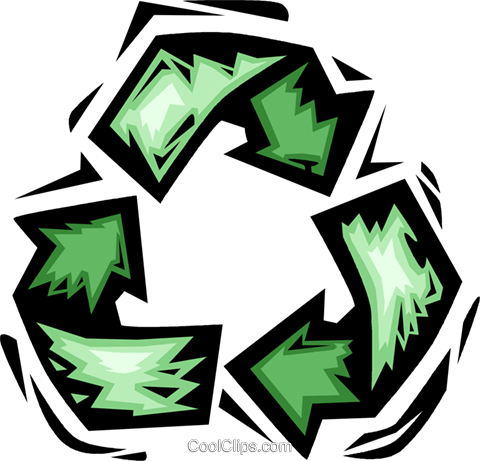 recycle symbol Royalty Free Vector Clip Art illustration vc065635