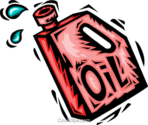 oil container Royalty Free Vector Clip Art illustration vc065642