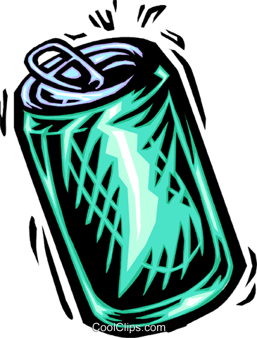soda can Royalty Free Vector Clip Art illustration vc065648