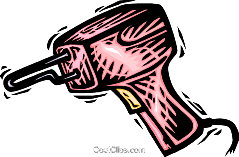 soldering gun Royalty Free Vector Clip Art illustration vc065657
