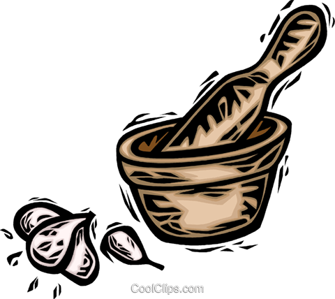 mortar and pestle Royalty Free Vector Clip Art illustration vc065685