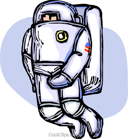 astronaut Royalty Free Vector Clip Art illustration vc065702