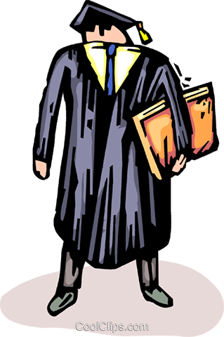 graduate Royalty Free Vector Clip Art illustration vc065703