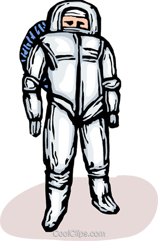 astronaut Royalty Free Vector Clip Art illustration vc065708