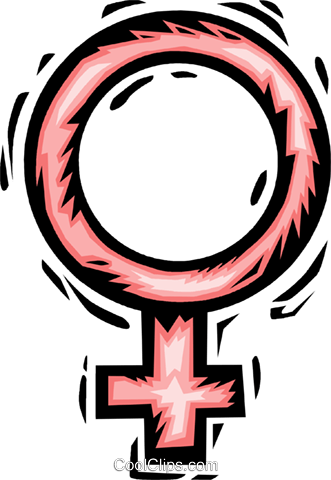 female symbol Royalty Free Vector Clip Art illustration vc065722