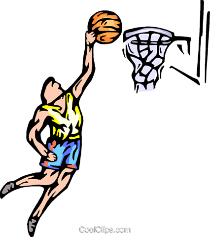 Basketball player Royalty Free Vector Clip Art illustration vc065767