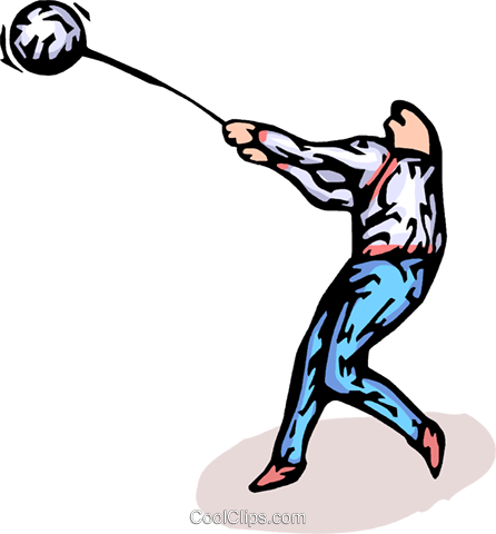 hammer throw Royalty Free Vector Clip Art illustration vc065783