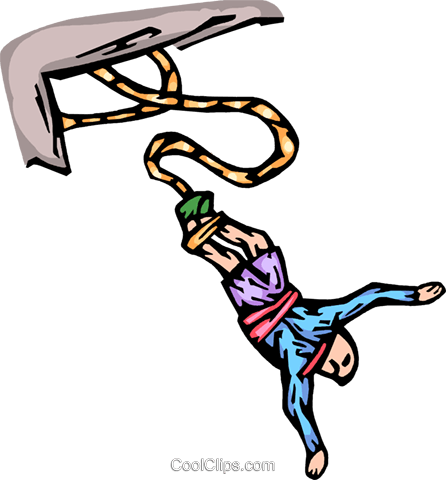 Bungee jumper Royalty Free Vector Clip Art illustration vc065789