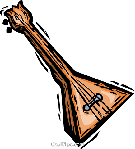 balalaika Royalty Free Vector Clip Art illustration vc065827