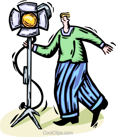 motion picture lighting Royalty Free Vector Clip Art illustration vc065828