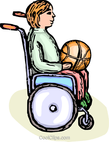 wheelchair basketball player Royalty Free Vector Clip Art illustration vc065848