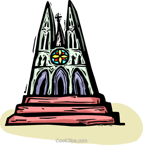 Christian Church Royalty Free Vector Clip Art illustration vc065857