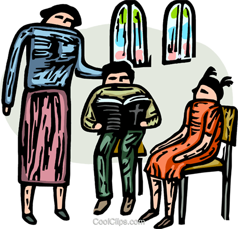 religious instruction, Sunday School Royalty Free Vector Clip Art illustration vc065868